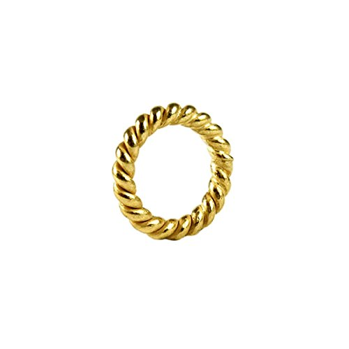 (18K Gold Overlay Closed Jump Ring Twisted JCG-105-9MM)