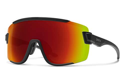 Smith Wildcat Chromapop Sunglasses, Matte Black, Chromapop Sun Red Mirror/Clear (Glass Wildcats)