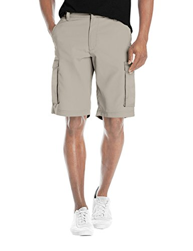 - Agile Mens Super Comfy Flex Waist Cargo Shorts ASH45170 Stone 36