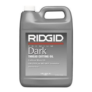 1 Gallon Thread Cutting Oil (RIDGID 70830 Dark Thread Cutting Oil, 1 Gallon of Dark Pipe Threading Oil)