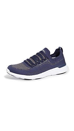 APL: Athletic Propulsion Labs Women's Techloom Breeze Sneakers, Navy/Metallic Gold/White, 8 Medium US