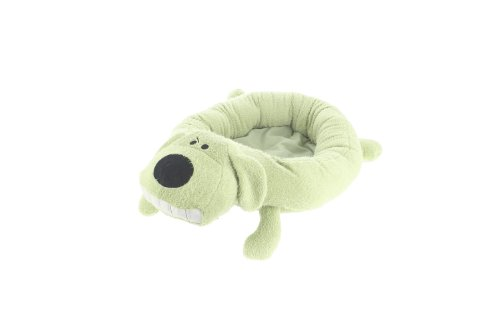 Multipet's 24-Inch Round Loofa Dog Bed, Green, My Pet Supplies
