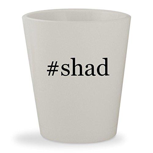 #shad - White Hashtag Ceramic 1.5oz Shot Glass (Lazer Bass Bait)