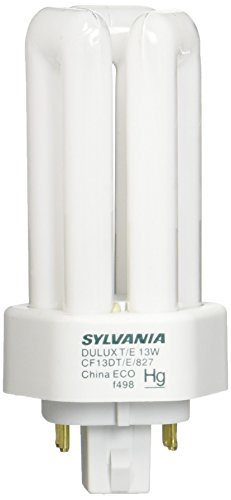 Sylvania 20891 Compact Fluorescent 4 Pin Triple Tube 2700K, 13-watt (Tube Triple Cfl)