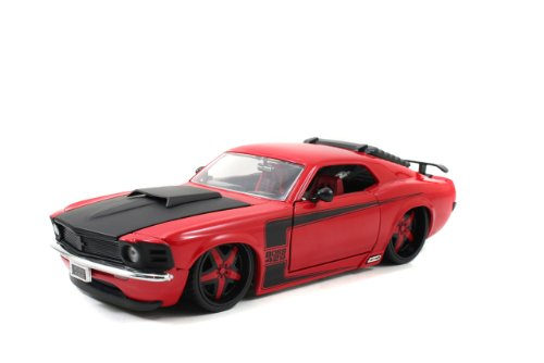 1970 Ford Mustang Boss 429 Bigtime Muscle 1:24 Scale (Red) -  Jada Toys, 90348bk