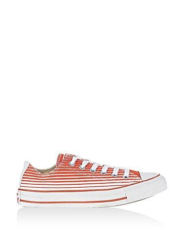 Converse Unisex – Erwachsene Chuck Taylor All Star Ox Sneaker, Weiß/Orange, 38 EU