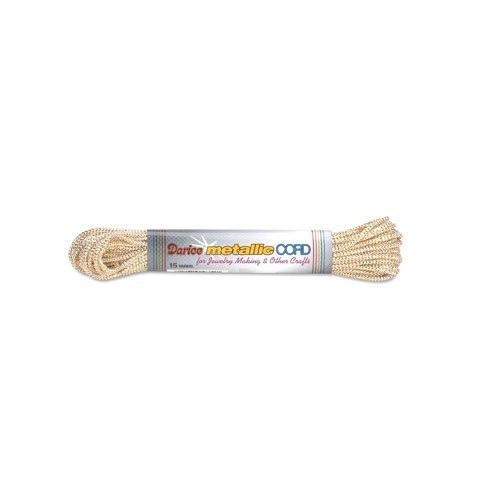 (Darice Bulk Buy DIY Metallic Cord Gold and White 15 Yards (6-Pack) 3412-11)