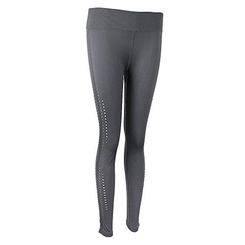 Magideal Pantalones de Mujer Deportes Entrenamiento Gimnasio Atlético Yoga Polainas Vacaciones Luau gris claro