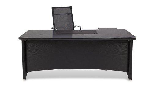Washington Executive Desk with Return and File Cabinet - Black ()