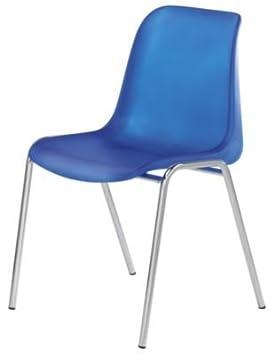 Silla - Carcasa de plástico - sin forro - carcasa azul ...