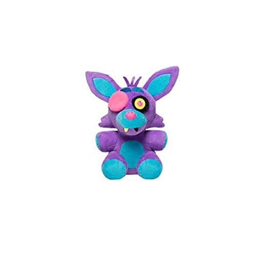 "Five Nights At Freddys - Foxy Nightmare Neon Blacklight Plush - Purple - 10cm 4"""