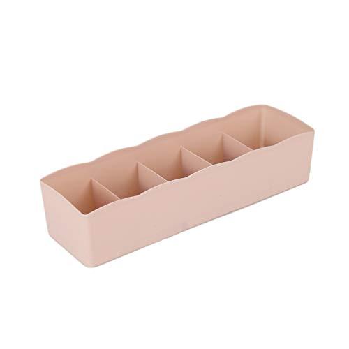 Five Grids Calcetines de ropa interior multifunción Caja de almacenamiento de cosas pequeñas Caja de acabado de plástico...