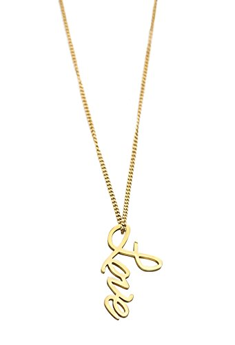 [Love Pendant Charm Necklaces 14k Gold Dipped Long Statement Gold Necklace for Women by Benevolence] (Custom Snake Eyes Costumes)