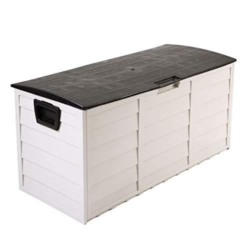 "Cypressshop Patio Sheds Outdoor Garden Storage 44"" Deck Box Organier Backyard Tool Bench Container 79 Gallon Weartherproof"