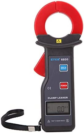 Gulakey クランプ漏れ電流計AC電流測定、レンジAC 0.00ミリアンペア300.0A、ジョーサイズ35X40mmへ。RS232インタフェースデータのアップロード機能データストレージ99グループETCR6600精密測定instrumenと