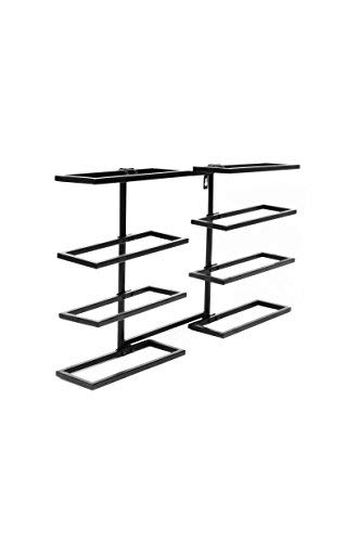 Superiore Livello Verona 8 Bottle Wall Mounted Wine Rack - Decorative Metal Shelf Storage with Modern Rustic Vertical Style in Black for Cellar, Party, Bar, Pantry - Sturdy Support and Rust-Free by Superiore Livello
