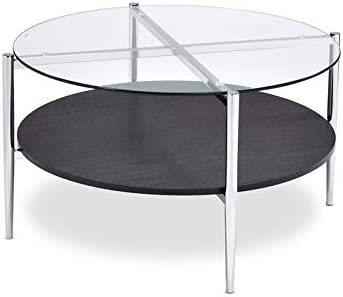 Steve Silver Bayliss Clear Tempered Glass Modern Cocktail Table