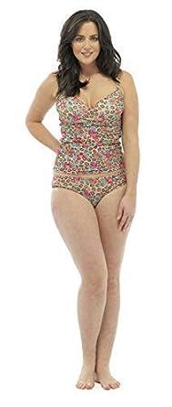 4c86eedd8c Ladies Women Tummy Control Padded Swimwear Swimsuit Bikin Takini set  Bathing Suit (UK 10,. Tom Franks