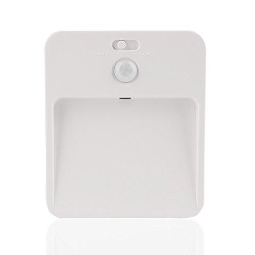 SX-CEHNG Nightlight Solar Charging Body Sensing LED Light Control Bedroom Bedside Nursery Hallway Cabinet Wardrobe Bedside Lamp (Color : Yellow light) by SX-CEHNG