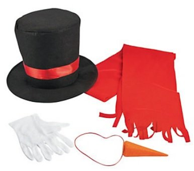 Snowman Costume Kit (Adult) - Carrot Adult Unisex Costumes