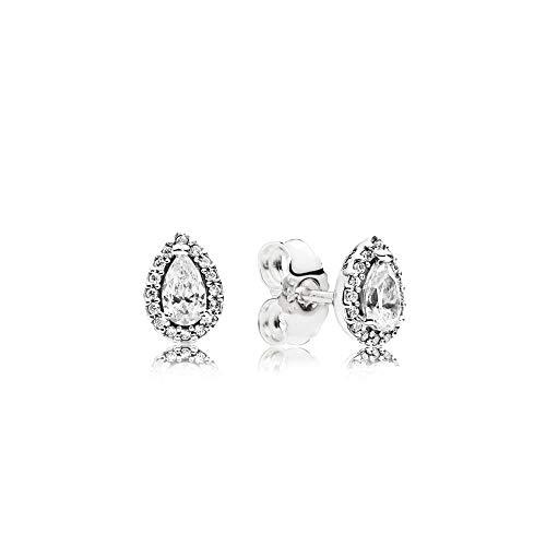Pandora Radiant Teardrops Silver Stud Earrings 296252CZ