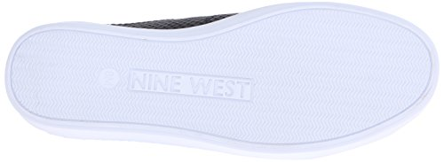 Nine West Womens Valley Läder Mode Sneaker Svart / Svart Läder