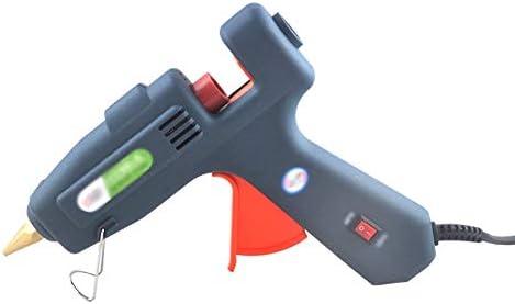 Xing zhe ホットメルト接着剤銃-60W-100W交換可能、手動接着剤銃電動接着剤銃+メルト接着剤スティック、急速加熱 - DIYの工芸家の修理に最適(グレー) 贈り物 (Color : B)