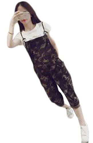 ン?セン? 편안한 한국 판 九分 길이 뽀 빠이 바지 여성 위장 패션 바지 치 노 와이드 팬츠 캐주얼 바지 カモフラ 바지 / N-Sen- Loose Korean Edition Nine-minute Length Salopette Women`s Camouflage Fashion Overall Chinopan Wide Pants Casual...