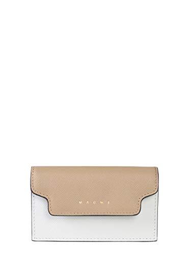 Marni Women's Pfmot05u09lv520z244m Beige Leather Wallet