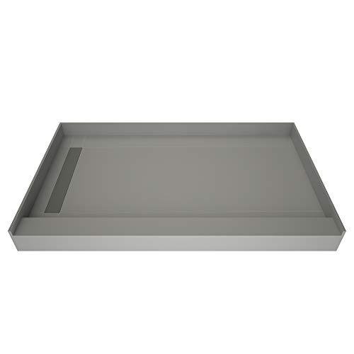 Drain 30 Left (Tile Redi USA WF3060L-PVC-2.5 Wonderfall Trench single Curb Shower Pan with Left Drain, 30