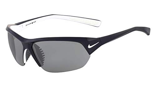 Nike Skylon Ace Rectangular Sunglasses, Shiny Obsidian/White, 69 mm (Tailwind Nike Women)