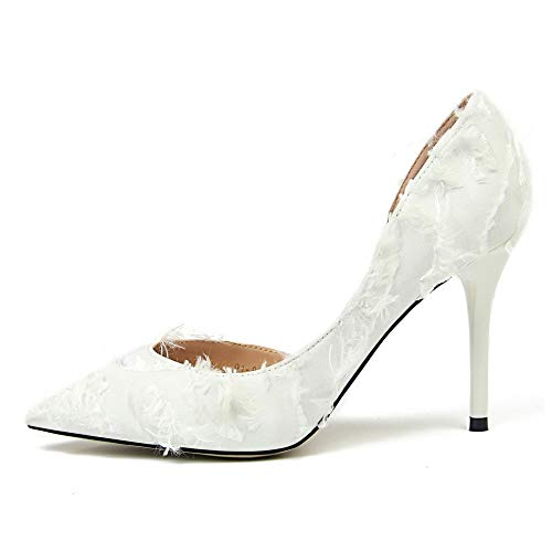 Urtjsdg High Frauen Damen Weiß nbsp;schuhe Prom Pumps Escarpins Hochzeit Damenschuhe Frau Mode Schwarz Heels Sexy 8 Schuhe Party trgrqw