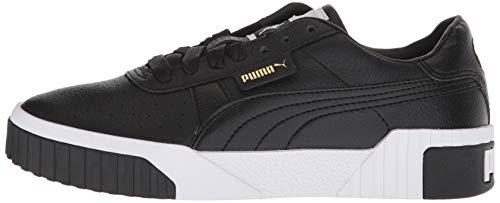 PUMA Women's CALI Sneaker Black White, 10.5 M US