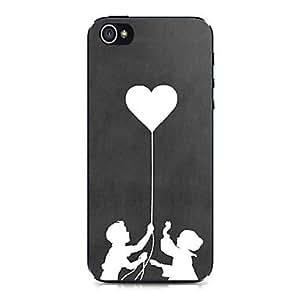 ZMY estuche rígido niños globos amor patrón para el iphone 4 / 4s