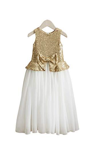 Chasing Fireflies Girls Glimmer Dress Gold ()