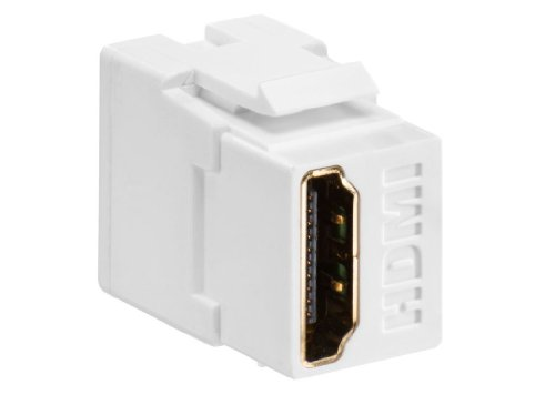 - Leviton 40834-W Feed Through, QuickPort HDMI Connector, White