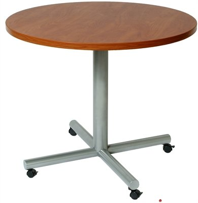 Amazoncom Round Mobile Cafeteria Dining Conference Table - Mobile conference table