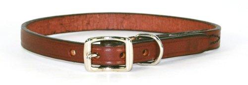"Hamilton 1/2"" x 16"" Creased Burgundy Leather Dog Collar"
