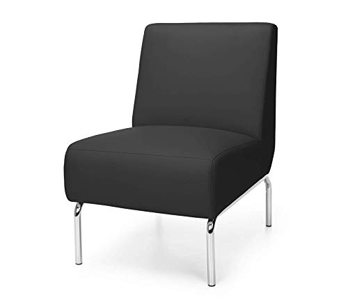 Оfm Deluxe Premium Collection Armless Modular Lounge Chair in Black Decor Comfy Living -