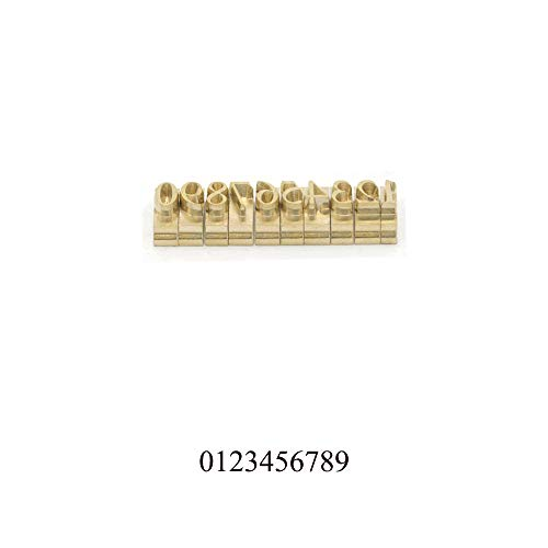 - Custom Made Brass Numbers Letters Changeable Mould Stamp Leather Craft Seal Tool 10pcs/Set (Numbers (0~9), Times New Roman Font)