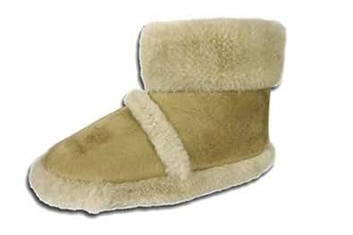 Nueva zapatilla de casa tipo bota mullida mujer Cooler 316 beige talla UK 3-4