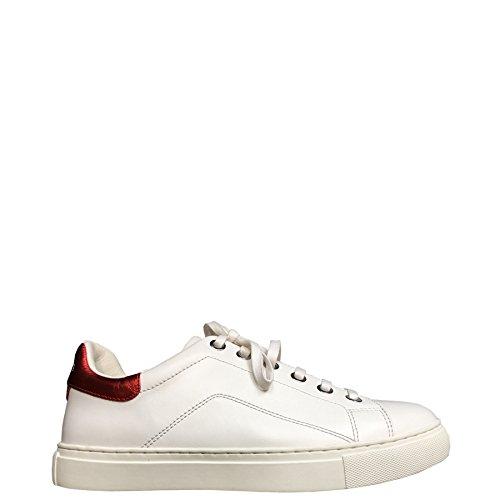Kent MV Baskets de Cuir Kool Blanc Rouge Vachette Chaussures Kesslord Lisse en Blr a5dWqC