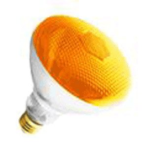 Br38 Amber Outdoor Floodlight Bulb 100 Watts Long Life Amber Light Bulb Supra Life