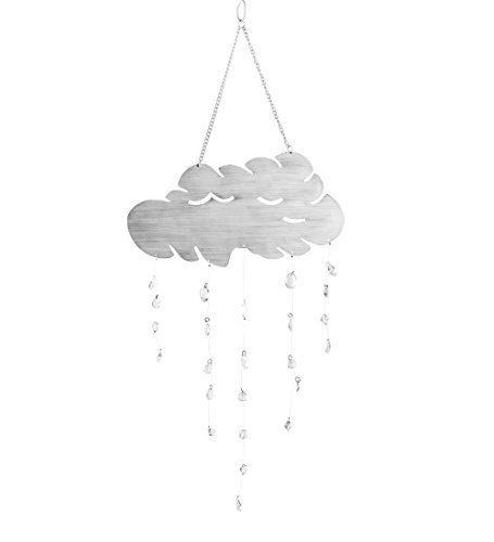 Outdoor Decorative Hanging Rain Cloud Mobile Chime 12 L x 12 W x 21 H (Hanging Art Mobile)