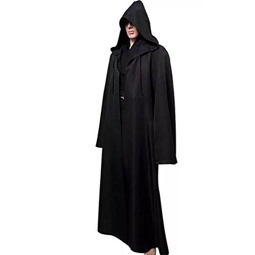 Vogvigo Halloween Costume New Star Wars Black Jedi Robe Hoodie Cloak (Jedi Warrior Costumes)