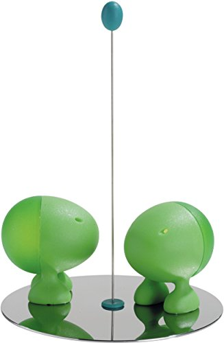 A di Alessi Lilliput Salt and Pepper Shaker, Green ()