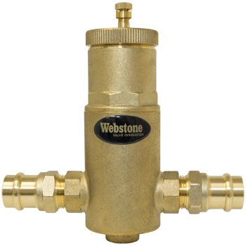 Webstone 78004 Press Air Separator, 1'' Size, Brass by Webstone (Image #1)