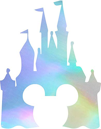 NBFU DECALS Cinderella Castle Clipart (Hologram) (Set of 2) Premium Waterproof Vinyl Decal Stickers for Laptop Phone Accessory Helmet Car Window Bumper Mug Tuber Cup Door Wall Decoration
