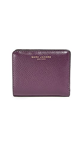 Marc Jacobs Women's Mini Compact Wallet, Dark Violet, One Size by Marc Jacobs