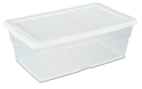 sterilite-16428012-6-quart-57-liter-storage-box-white-lid-with-clear-base-12-pack